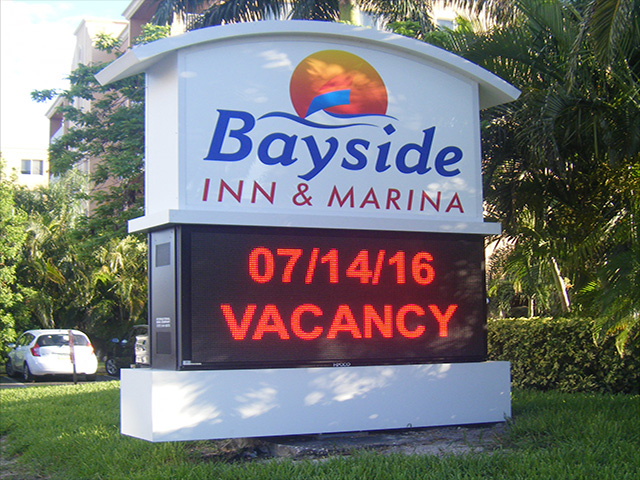 In Belleair, International Sign is ready to help you with your building signs needs or requirements. International Sign specializes in the design, manufacture, installation of Hospitality Monument With Digital Display in all of Pinellas county, International Sign is ready to serve your light box signs needs. Here to serve you International Sign does business in Belleair in Pinellas county FL. Area codes we service include the  area code and the 