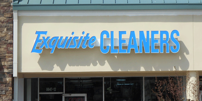 Cleaners Channel Letters Sign